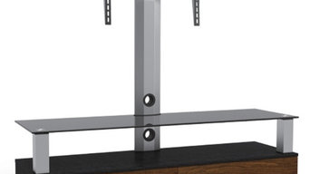 """Cantilever Aluminium Wood Glass Tv Stand Table Mount 23""""-47"""" Lcd Led Plasma"""
