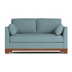 "Avalon Apartment Size Sofa, Cloud Velvet, 57""x37""x30"""