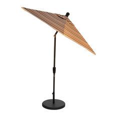 7.5' Auto-Tilt Umbrella, Sunbrella Brannon Redwood, Bronze Frame