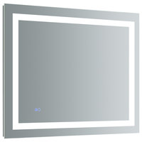 "Santo Bathroom Mirror With LED Lighting and Defogger, 36""x30"""