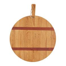 Oak Large Round Pizza Board