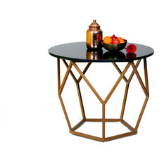 - Pentagon Granite Table - Side Tables & End Tables