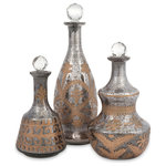 IMAX Worldwide Home - Acadia Glass Decanters, 3-Piece Set - *Please Note*