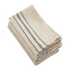 "Linen Stripes Napkin, Set of 4, 20"", Natural"