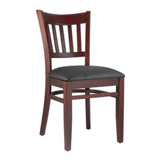 Vertical Side Chairs Set Of 2 Base: Mahogany Seat: Black