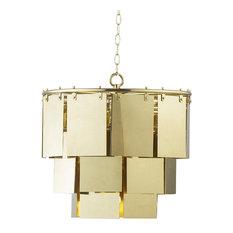Resource Decor Marilyn Modern Classic Brass Sheet Chandelier