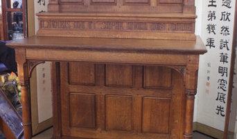 French Oak Gothic Revival Servery