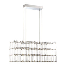 Linwood Rectangular LED Cage Chandelier