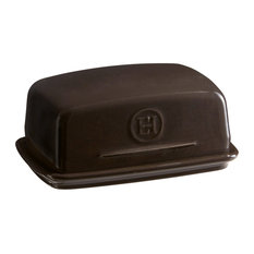 Emile Henry Butter Dish, Charcoal