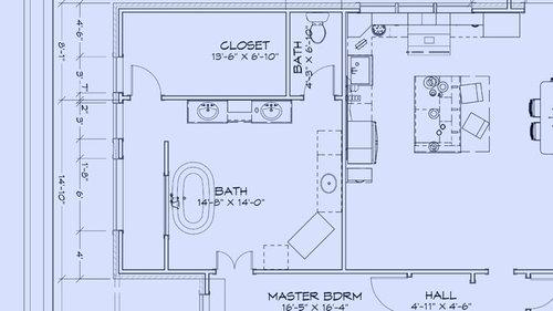 Best master bath layout