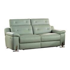Homelegancela Inc Homelegance Vortex Double Reclining Sofa In Light Gray Leather Sofas