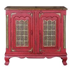 Aqdal Red Sideboard