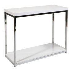 avenue six avenue six wall street foyer table in white console tables