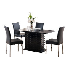 Contemporary Dining Room Sets   Houzz Pilaster Designs   Black Wave Design Dining Room Kitchen Table and 4 Chairs    Dining Sets. Contemporary Dining Room Furniture. Home Design Ideas