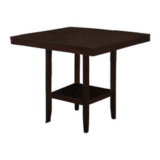 """Monarch Specialties Dining Table, 42""""X 42"""", Cappuccino Counter Height - I1900"""