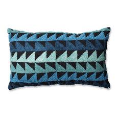 Pillow Perfect Samba Rectangular Throw Pillow, Teal Blue Black
