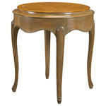 French Heritage - French Heritage Colette Round End Table - A solid wood piece that feels as light as air - a rippling apron and slight legs seem to float in space.