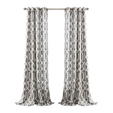 Edward Trellis Room Darkening Window Curtain Set, 95""
