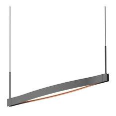 Ola™ Single Linear LED Pendant, Satin Black