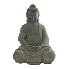 nearly natural inc buddha statue indoor and outdoor garden statues and - Resin Garden Statues