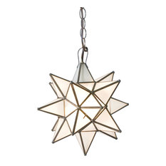 Frosted Star Chandelier, Large