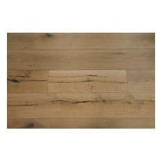 "Santa Anita 1/2"" x 7-1/2"" Euro Oak Distressed Engineered Wood, Barley"