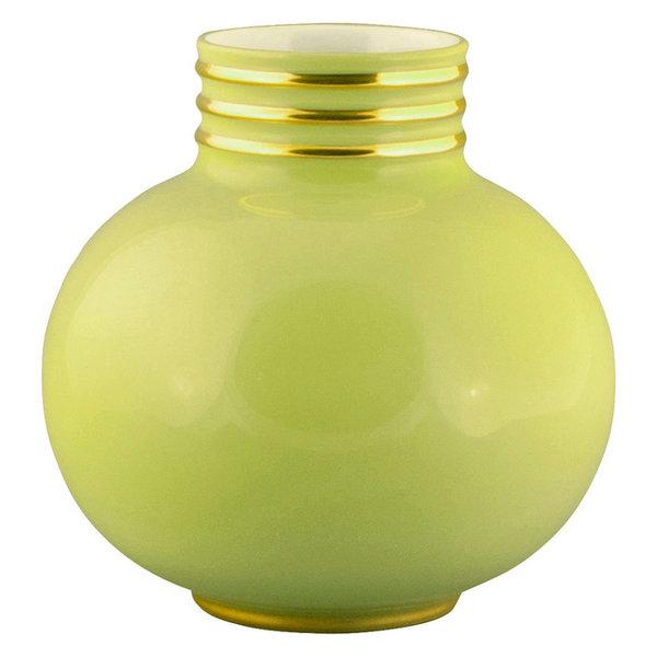 Arienne Petite Round Vase, Celery & Gold