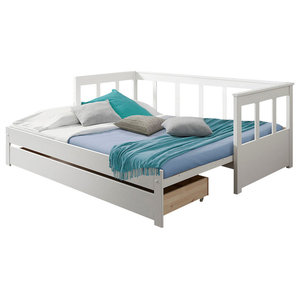 Pino Extendable Bed, White