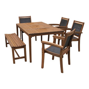 Catania 6-Piece Sling and Eucalyptus Dining Set