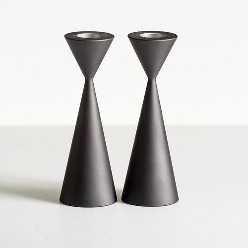 Taper Candlesticks - Aluminum Slate - Candleholders