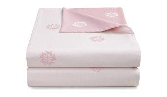 Hare Flower Reversible Dusty Pink Duvet Cover