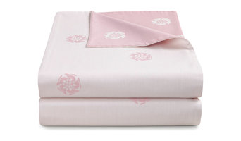 Hare Flower Reversible Dusty Pink Duvet Cover