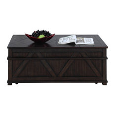 Progressive Foxcroft Storage Coffee Table Trunk, Dark Pine
