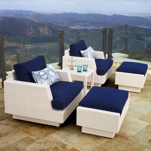Portofino™ Comfort 5pc Club Chair Set in Chalk - Products
