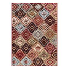 Cullen Contemporary Geometric Multi-Color Non-Skid Rectangle Area Rug, 8' x 10'
