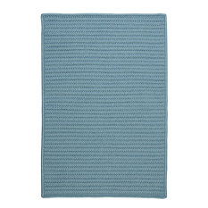 Colonial Mills, Inc - Colonial Mills Simply Home Solid Federal Blue Square 10' Area Rug - Outdoor Rugs