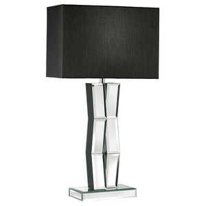 Black  Searchlight Reflection Table Lamp Mirror