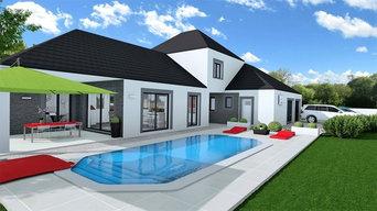 Projet d'une maison contemporaine et spacieuse