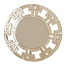 Abbyson Living Pierre Round Wall Mirror, Gold