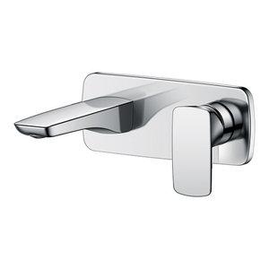 Julia Chrome Wall-Mounted Bathroom Mixer Tap