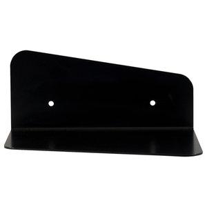 Minimalist Steel Wall Shelf, Black