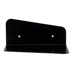 Minimalist Steel Wall Shelf, Black