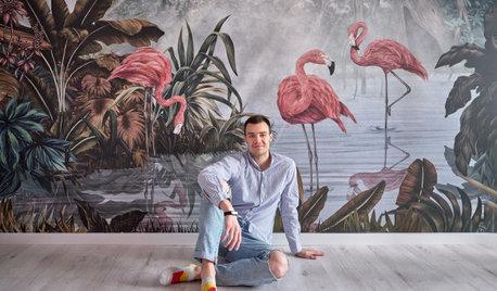 В гостях: 36 кв.м — квартира с фламинго для архитектора