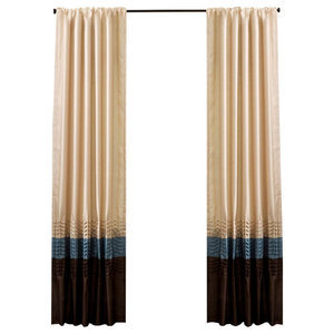Brown Wood Door Bead Curtain 125 Strands - Tropical - Curtains - by on