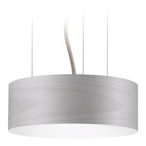 Veneli Slim Pendant Light, Light Grey Ash Veneer, Small