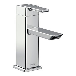 Moen 90 Degree 1-Handle Low Arc Bathroom Faucet, Chrome