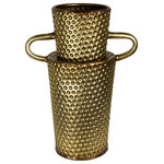 Sagebrook Home - Textured Vase, Metal, Gold, Small - Sagebrook Home has been formed from a love of design, a commitment to service and a dedication to quality. We create and import fashion forward items in the most popular design styles.