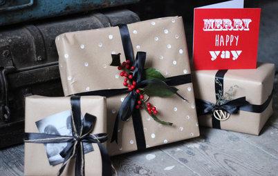 Pak gaverne billigt ind i hjemmelavet, rustikt papir