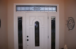 Front Door with White Interior and Sidelite Windows