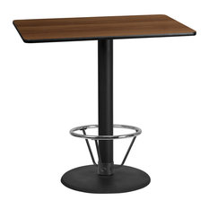 Flash Furniture 30-inchx48-inch Laminate Top Pub Table Walnut